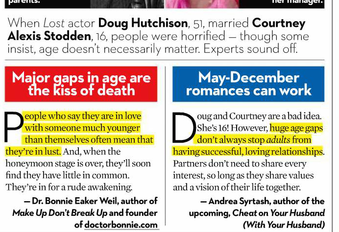 TV/Print : Relationship Therapy and Relationship Advice for Couples